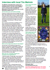 Bishopston Matters - interview April 2014